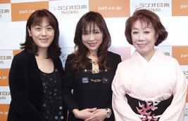 歌手の朝丘雪路さんと女優の真由子さん